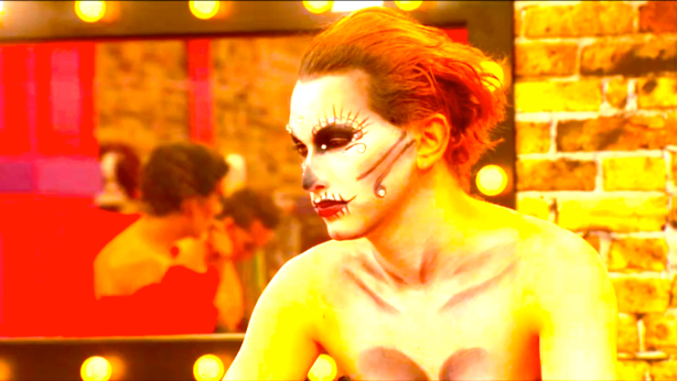 Jinkx Monsoon's Stink Eye After Serving Award Caliber Dia De Los Muertos Realness.