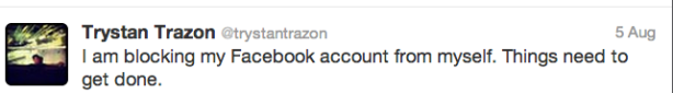 Wherein Sir Trazon Explains His Monastic Facebook Silence.